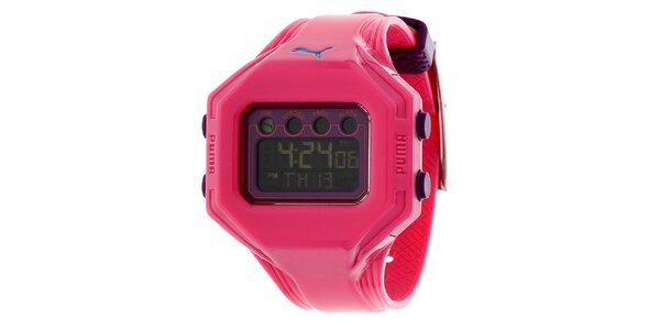 Dámske ružové digitálne hodinky Puma