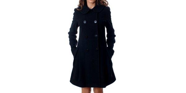 Elegantný dámsky dvojradový kabát Mya Alberta v čiernej farbe