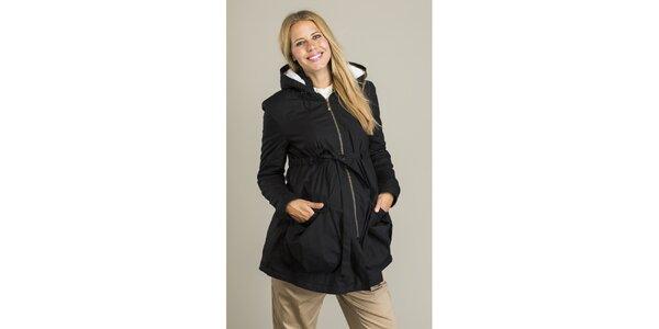 Dámsky čierny kabát Mom2mom