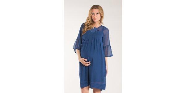 Dámske sýto modré šaty Mom2mom