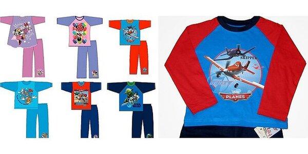 Detské 100% bavlnené pyžamá: DISNEY MINNIE MOUSE, ANGRY BIRDS, STAR WARS,…