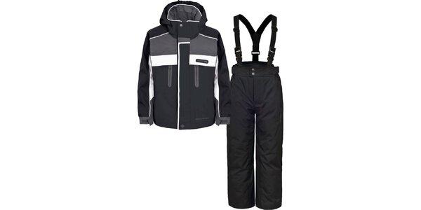Detský čierno-šedý lyžiarsky komplet Trespass