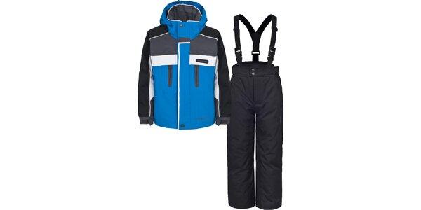 Detský čierno-modrý lyžiarsky komplet Trespass