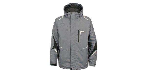 Pánska šedá bunda na lyže Trespass