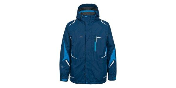 Pánska tmavo modrá bunda na lyže Trespass