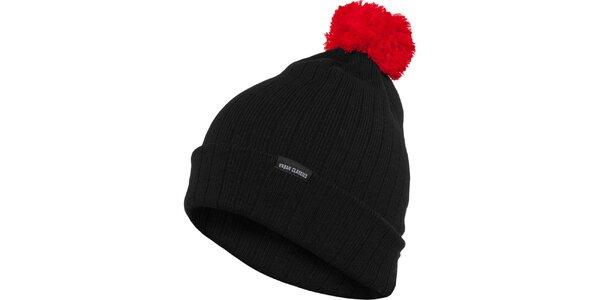 Pánska čierna čiapka Urban Classics s červeným brmbolcom 6b013aeb00