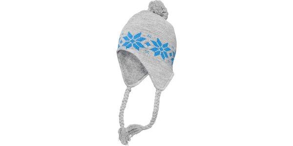 Šedo-tyrkysová čiapka s nórskym vzorom Urban Classics