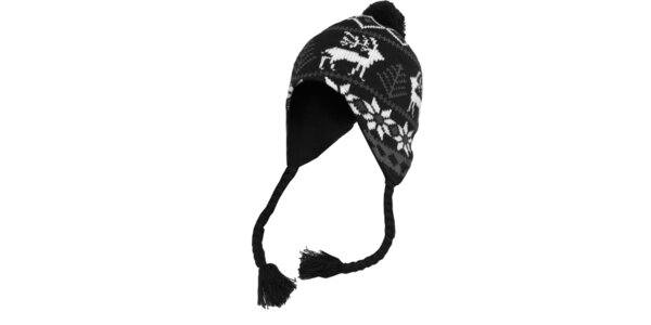 Bielo-šedo-čierna čiapka s nórskym vzorom Urban Classics