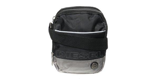 Pánsky čierno-šedý messenger Diesel