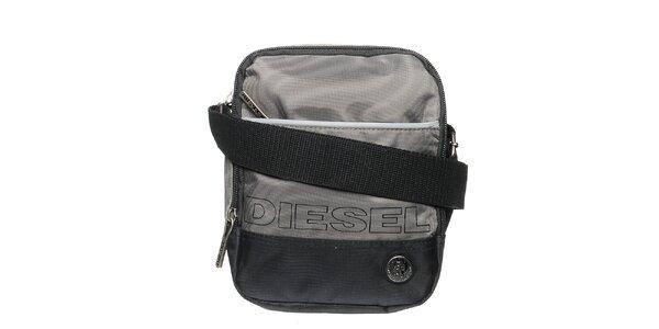 Pánsky šedo-čierny messenger Diesel