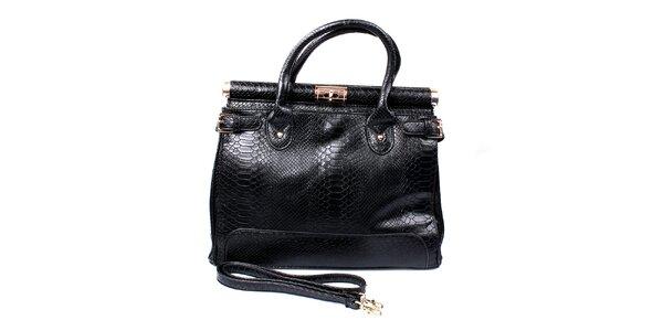 Dámska čierna kabelka so zámkom London Fashion