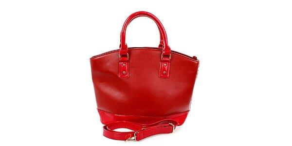 Dámska veľká červená kabelka London Fashion