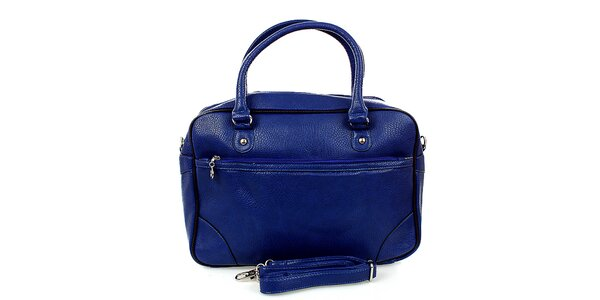 Dámska modrá bowlingová kabelka London Fashion