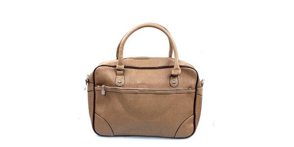 Dámska béžová kabelka s lemovaním London Fashion