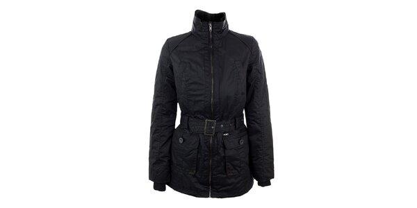 Dámska tmavo modrá bunda s opaskom Company&Co