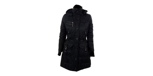Dámsky čierny kabát s podšívkou Company&Co