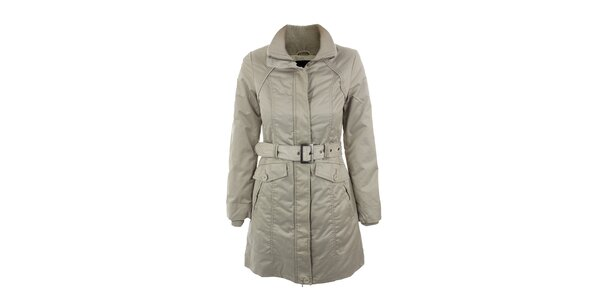 Dámsky šedo-béžový kabát Company&Co