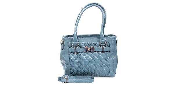 Dámska svetlo modrá prešívaná kabelka London Fashion
