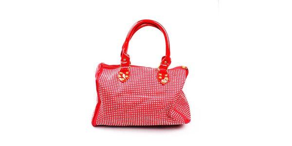 Dámska červená kabelka s kamienkami Anna Smith