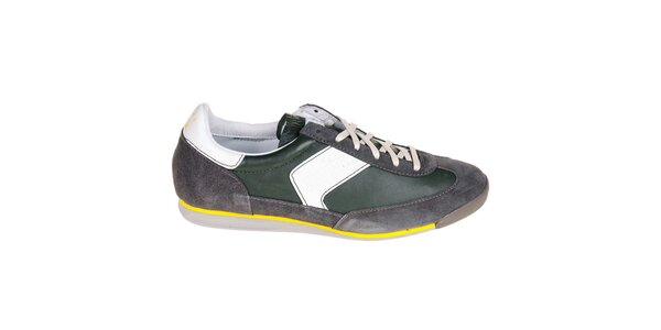 Pánske šedo-zelené tenisky G-Star