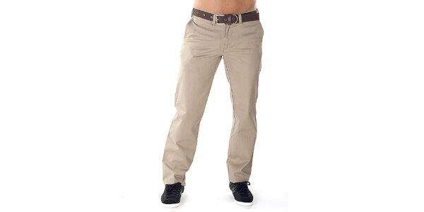 Pánske pieskové nohavice s opaskom Bendorff