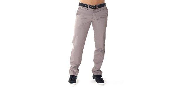 Pánske šedé nohavice s opaskom Bendorff