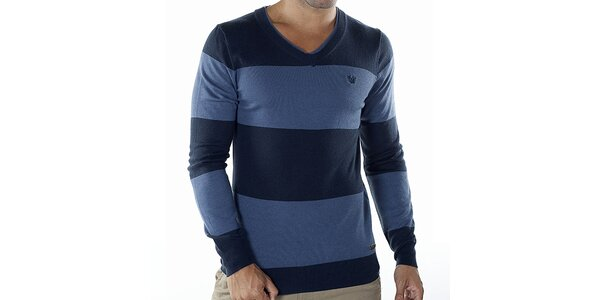 Pánsky modro pruhovaný sveter Bendorff