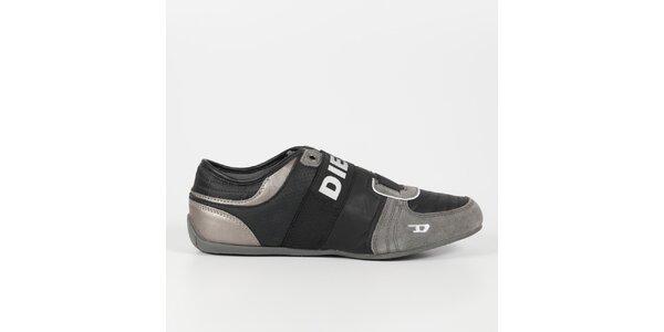Pánske čierno-šedé tenisky Diesel