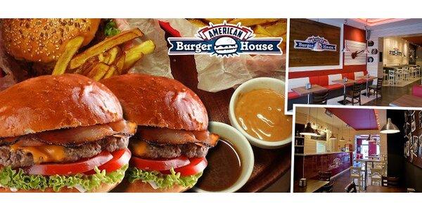 Burger menu s hranolkami a nápojom