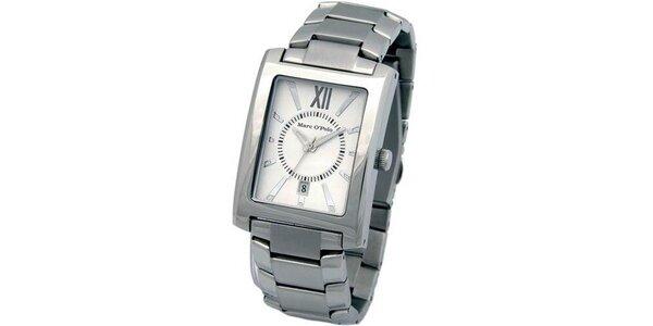Pánske strieborné oceľové hodinky Marc O´Polo