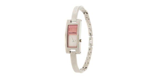 Dámske náramkové hodinky Marc O´Polo s ružovými detailmi