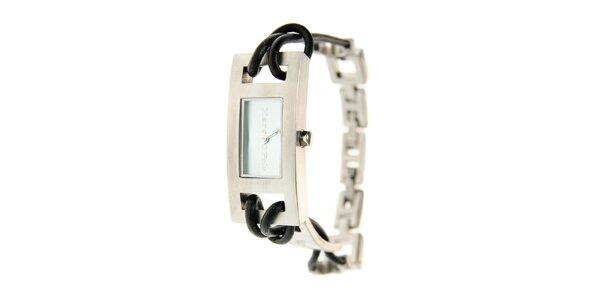 Dámske náramkové hodinky Marc O´Polo s koženým remienkom a modrým sklíčkom