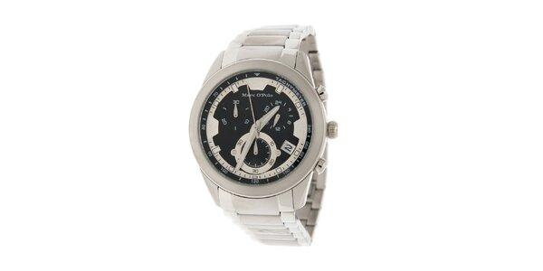 Pánske náramkové hodinky Marc O´Polo s chronografom a tachometrom a čiernym…