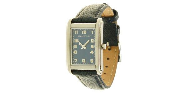 Pánske analogové hodinky s čiernym remienkom Marc O´Polo