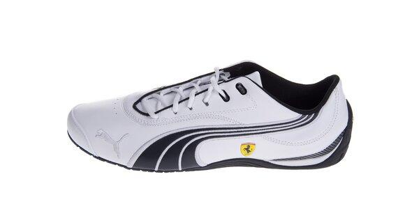 Pánske biele tenisky Puma Ferrari s čiernymi detailami