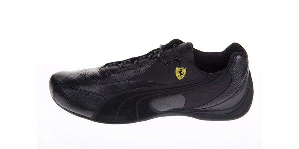 Pánske čierne tenisky Puma Ferrari