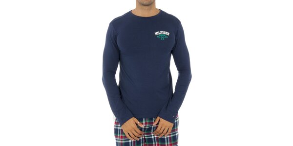 Pánske modré pyžamové tričko Tommy Hilfiger