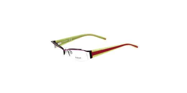Dámske zeleno-ružové okuliare Replay