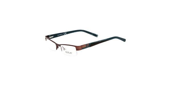 Pánske hnedo-modré okuliare Replay
