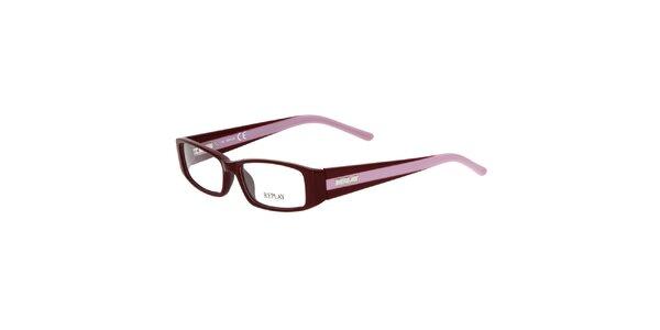 Dámske bordó-fialkové okuliare Replay