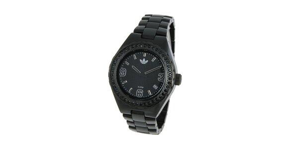 Dámské čierne hodinky Adidas s kryštálmi