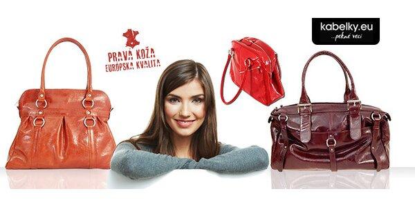 Dámske kabelky z pravej kože