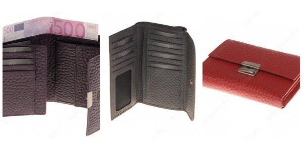 Štýlové peňaženky v rôznych farbách