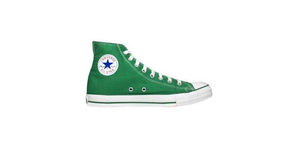 Zelené členkové tenisky Converse