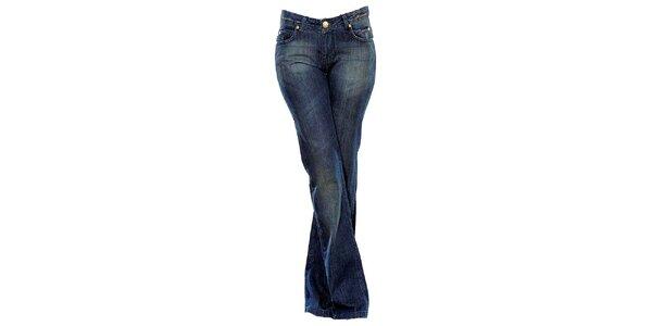 Dámske modré boot-cut džínsy Ruby London