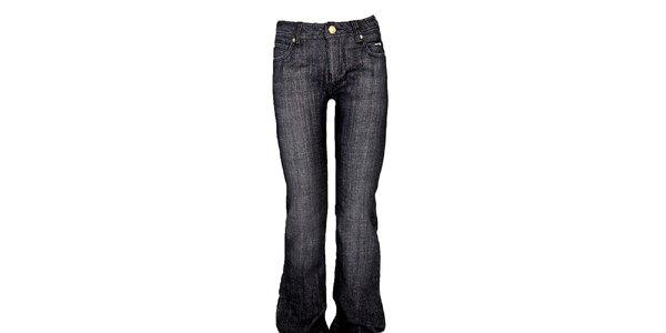 Dámske šedo-čierne boot-cut džínsy Ruby London