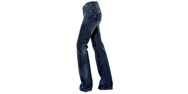 Dámske tmavo modré boot-cut džínsy Ruby London