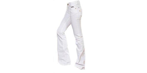 Dámske biele boot-cut džínsy Ruby London