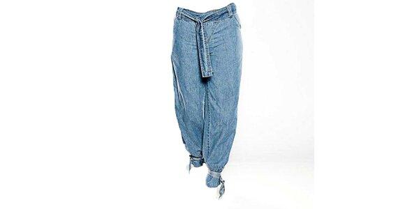 Dámske svetlo modré háremové džínsy Ruby Blue