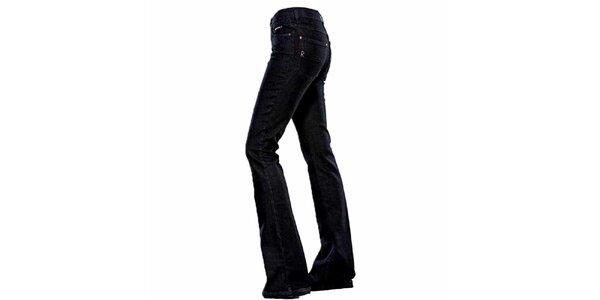 Dámske tmavo modré zvonové džínsy Ruby London
